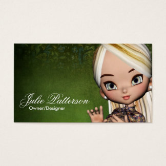 Little Cookie Asian Girl Fantasy Business Card