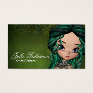 Little Cookie Asian Girl Fantasy Business Card 2