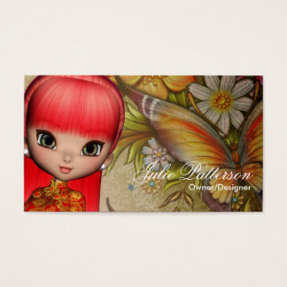 Little Cookie Asian Girl Fantasy Business Card 3