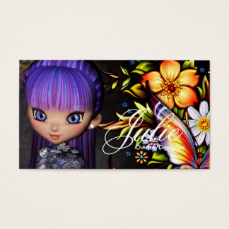 Little Cookie Asian Girl Fantasy Business Card 4