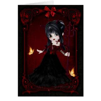 Little Cookie Devil Girl Design 1 Card