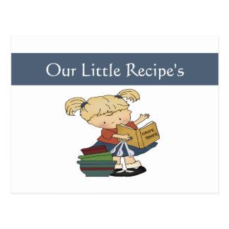 Little Cooks Recipe Card Post Card