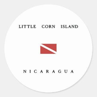 Little Corn Island Nicaragua Scuba Dive Flag Stickers