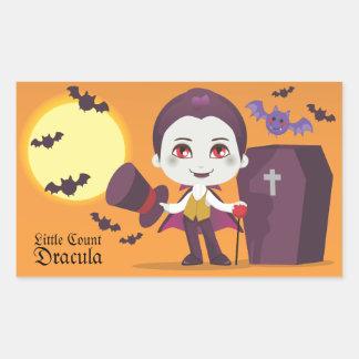 Little Count Dracula Rectangular Sticker