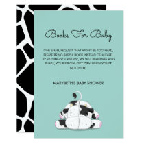 Little Cow Baby Shower Bring A Book Request Card