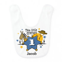 Little Cowboy 1st Birthday Bib