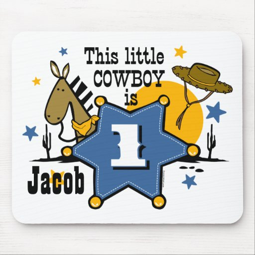 Little Cowboy 1st Birthday Mousepad