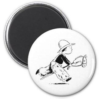 Little Cowboy 2 Inch Round Magnet