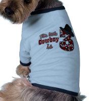 Little Cowboy 3rd Birthday Pet T Shirt