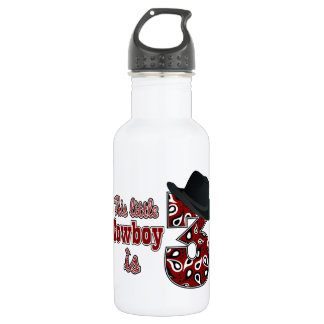Little Cowboy 3rd Birthday Stainless Steel Water Bottle