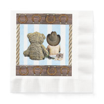 Little Cowboy and Teddy Bear Party Napkins