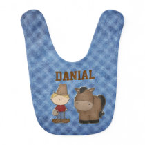 Little Cowboy Baby Bib