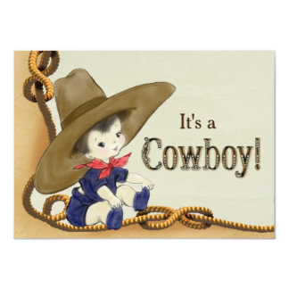 Little Cowboy Baby Shower Card