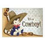 Little Cowboy Baby Shower Card