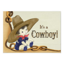 Little Cowboy Baby Shower Invitation