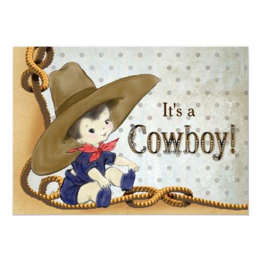 Baby Shower Ideas For Cowboy ~ Little cowboy baby shower invitation zazzle