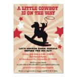 Little Cowboy Baby Shower Invite, Rocking Horse