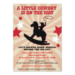 Little Cowboy Baby Shower Invite, Rocking Horse 5x7 Paper Invitation Card