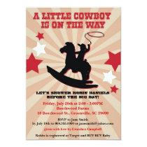 Little Cowboy Baby Shower Invite, Rocking Horse Invitation