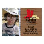Little Cowboy Birthday Party Custom Invites