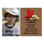 Little Cowboy Birthday Party 5x7 Paper Invitation Card
