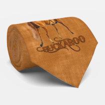 Little Cowboy Buckaroo in Western Brown Neck Tie