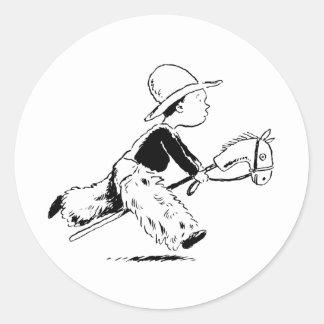 Little Cowboy Classic Round Sticker
