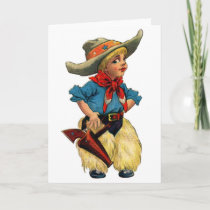 Little Cowboy, Greeting Card