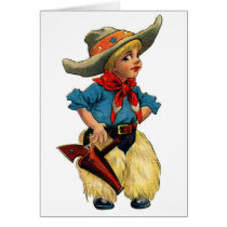 Little Cowboy, Greeting Card