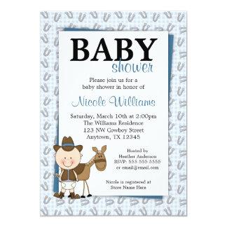 Little Cowboy Horseshoes Baby Shower Invitations