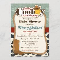 Little Cowboy Modern Baby Shower Invitation