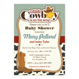 Cowboy baby shower invitations announcements zazzle little cowboy modern baby shower invitation filmwisefo Images
