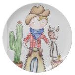 Little Cowboy Plate