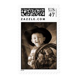 Little Cowboy Postage Stamp