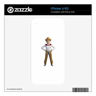 Little Cowboy Sheriff Decal For iPhone 4S