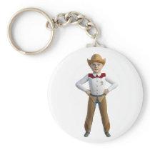Little Cowboy Sheriff Keychain