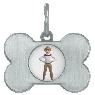Little Cowboy Sheriff Pet Name Tag