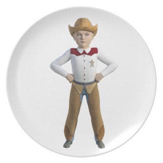 Little Cowboy Sheriff Plate