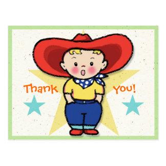 Little Cowboy Thank you! Card