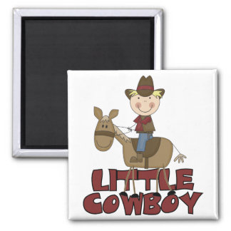 Little Cowboy Tshirts and Gifts 2 Inch Square Magnet