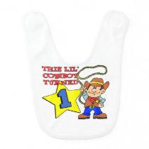 Little Cowboy Turned One Baby Bib