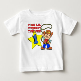 Little Cowboy Turned One Baby T-Shirt