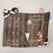 Little Cowboy Western | Baby Milestone Blanket