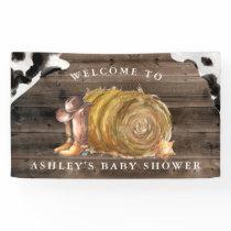Little Cowboy | Western Baby Shower Welcome Banner