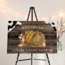 Little Cowboy | Western Baby Shower Welcome Sign