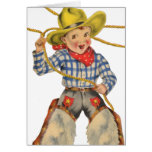 Little Cowboy With Lariat Greeting Card