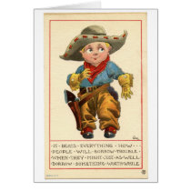 Little Cowboy's Advice, Greeting Card