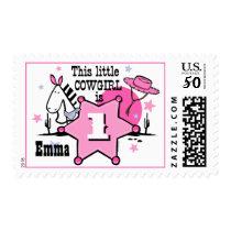 Little Cowgirl 1st Birthday Stamp