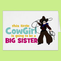 Little Cowgirl, Big Sister Card