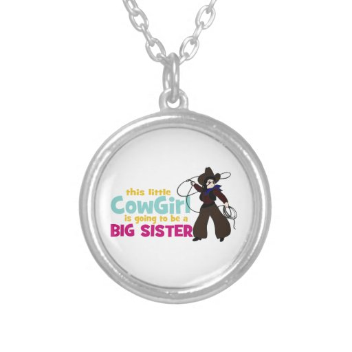 Little Cowgirl, Big Sister Personalized Necklace